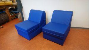 Vom Sessel zur Liege mit wenigen Handgriffen